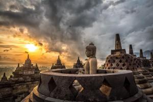 Marele templu de la Borobudur, în Java. ACASĂ, pentru pritenul meu care n-a fost acolo niciodată