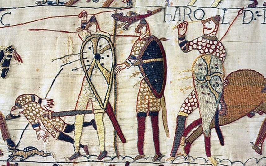 Sfîrşitul unei lumi: moartea regelui anglo-saxon Harold, la 14 octombrie 1066, atunci când o săgeată normandă i s-a înfipt în ochi, a însemnat