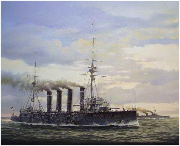 H.M.S. Good Hope, nava-amiral a escadrei britanice înfrânte de germani la Coronel; crucişătirul s-a scufundat cu întreg echipajul şi cu amiralul Cradock
