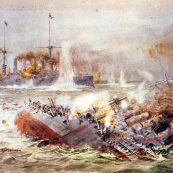 Crucisătorul cuirasat german Scharnhorst s-a scufundat deja, iar Gneisenau încă mai luptă: Flaklands, decembrie 1914