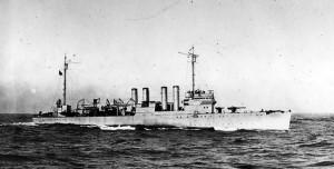 Distrugător american din clasa Clemson, cum au fost toate cele patru nave ce-au participat la atacul de la Balikpapan