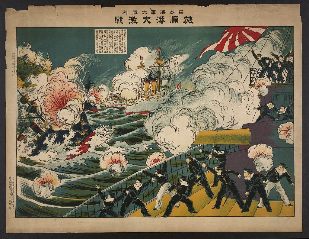 În nerozia lor absolută, spun destule lucrări de istorie, ruşii au crezut că exploziile torpilelor şi obuzelor japoneze sunt focuri de artificii de la petrecerea amiralului Stark, cu pile mari la curtea imperială de la Sankt Petersrburg