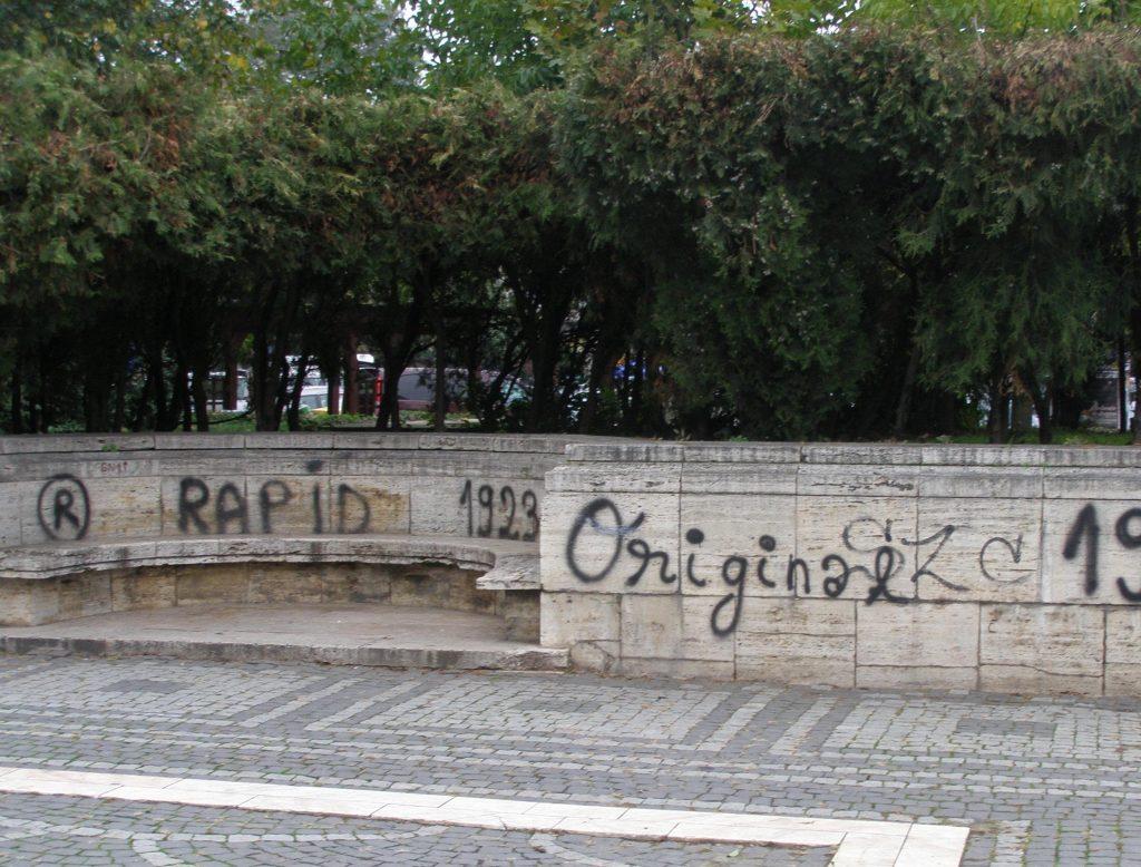 Graffitti în Parcul Carol: misteru-i lămurit, 1923 nu face trimitere la marea Constituţie, ci la naşterea unei mari echipe de fotbal.